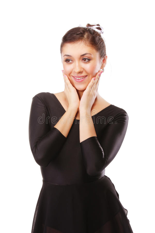 Lächelnde Ballerina lizenzfreies stockbild