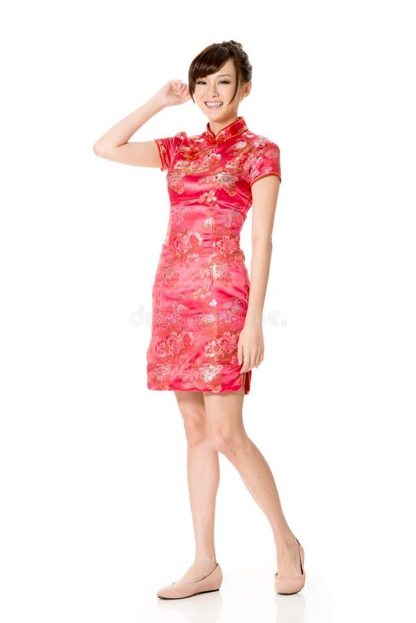 Lächelnde Chinesin lizenzfreie stockfotografie