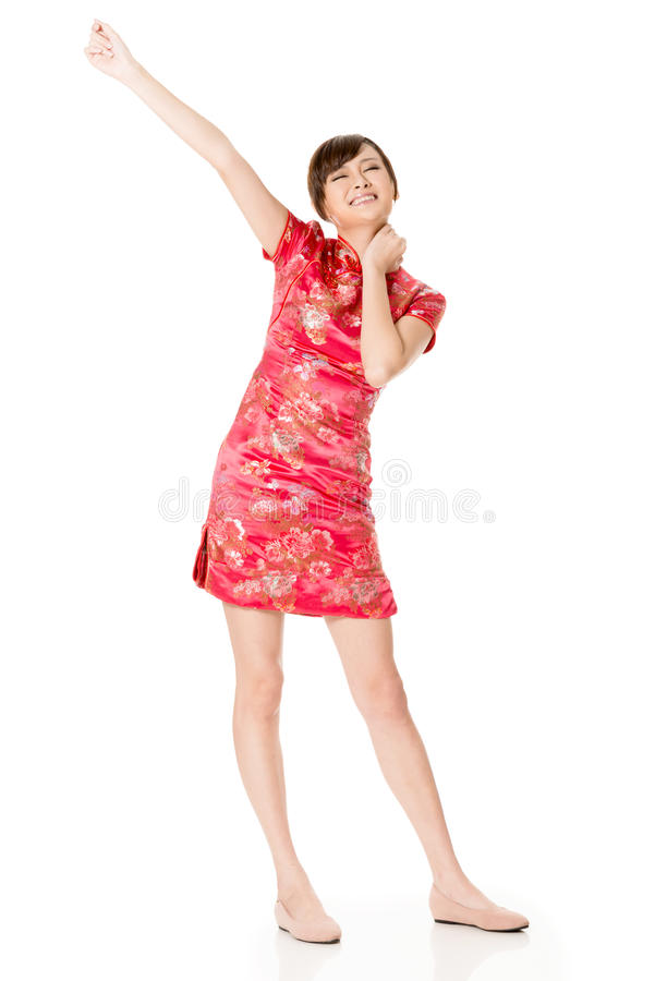 Lächelnde Chinesin lizenzfreie stockbilder