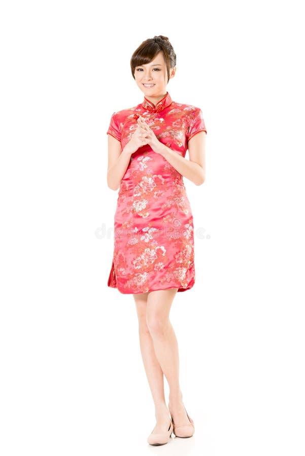 Lächelnde Chinesin stockfotografie
