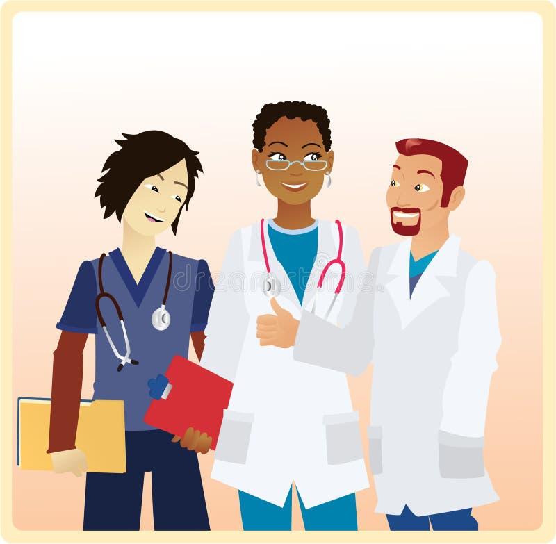 Lächelnde Doktoren stock abbildung