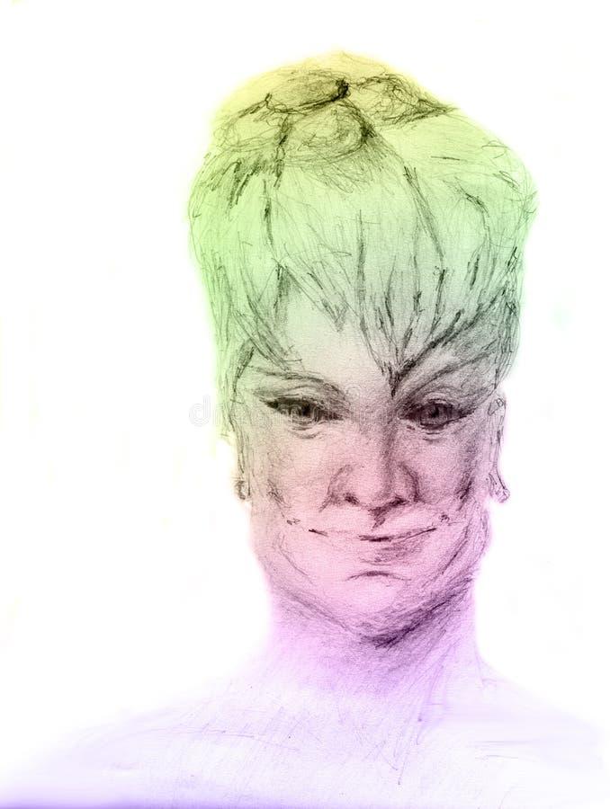 Lächelnde elegante reife Dame vektor abbildung