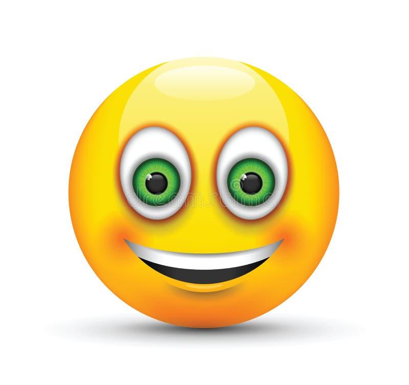 l chelnde emoji gro e gr ne augen vektor abbildung illustration von auslegung flirt 78976181. Black Bedroom Furniture Sets. Home Design Ideas