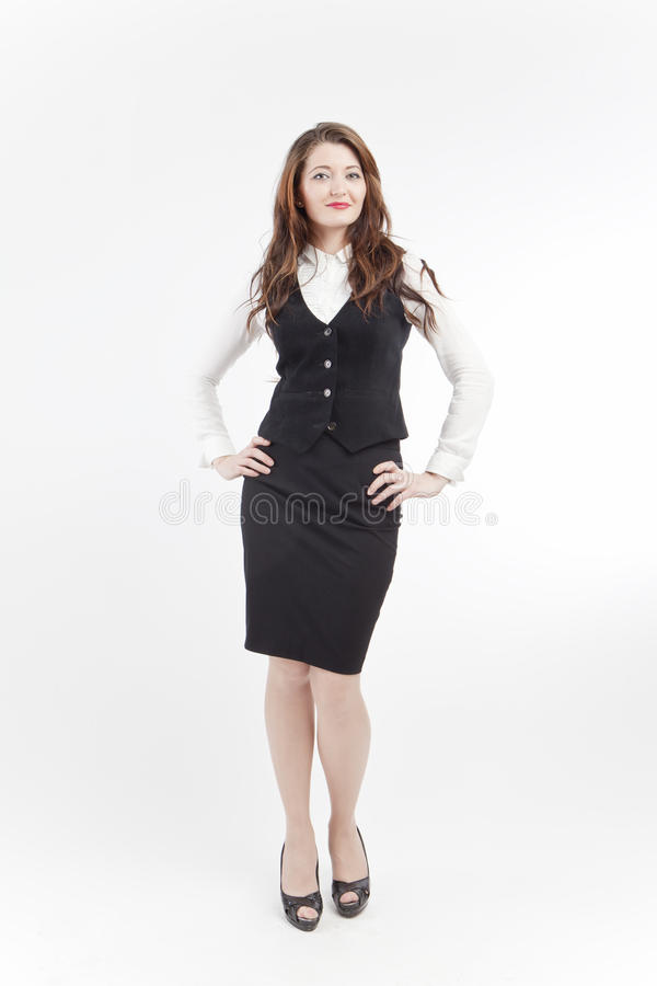 Lächelnde Geschäftsfrau lizenzfreie stockfotos