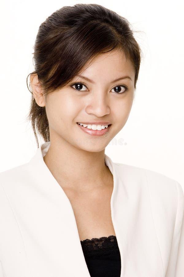 Lächelnde Geschäftsfrau 3 stockfotografie