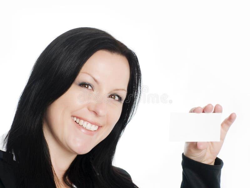 Lächelnde Geschäftsfrauholding businesscar stockfotos