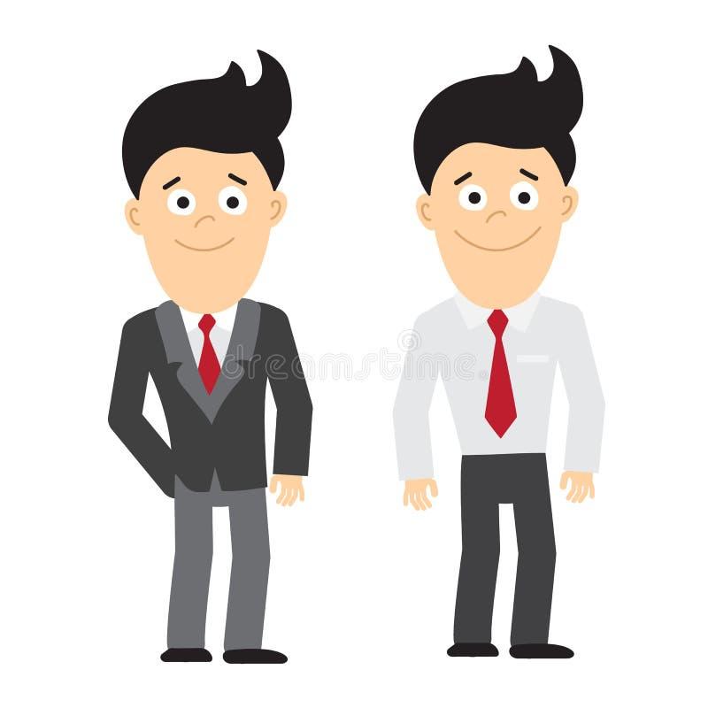 Lächelnde Geschäftsmannstellung stock abbildung