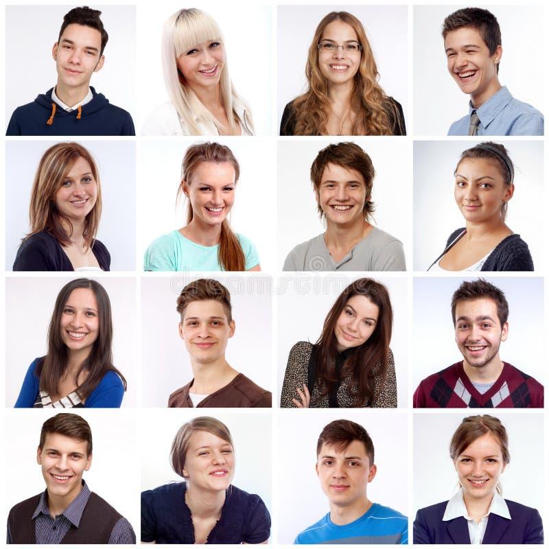 Lächelnde Gesichter lizenzfreie stockfotografie