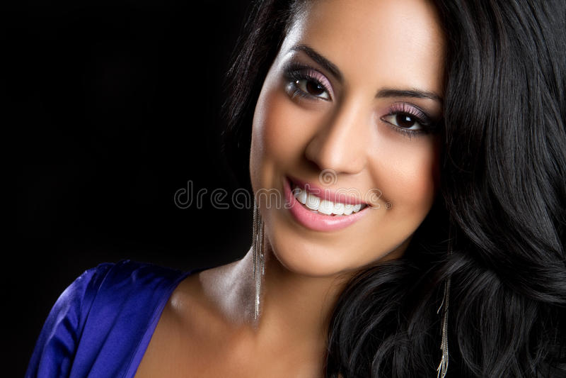 Lächelnde hispanische Frau stockbilder