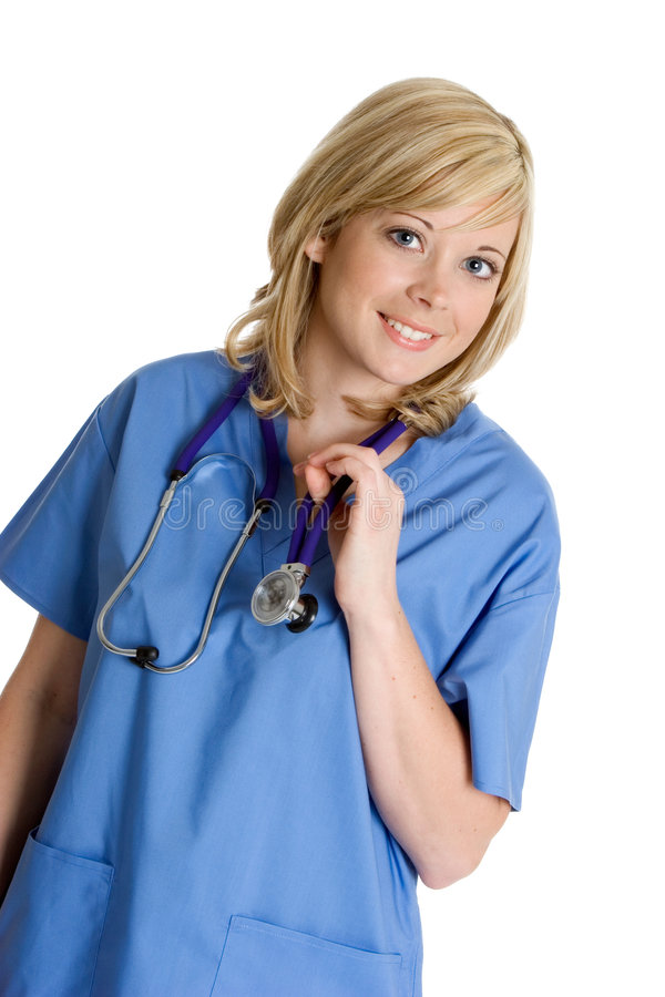 Lächelnde Krankenschwester lizenzfreie stockfotos