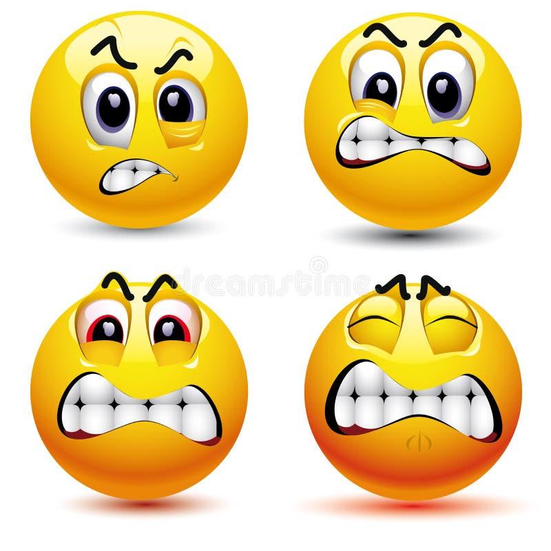 Lächelnde Kugeln stock abbildung
