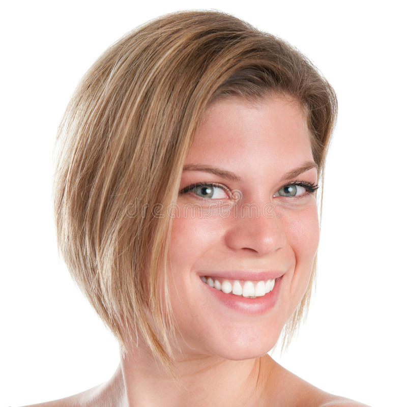 Lächelnde Mädchennahaufnahme lizenzfreies stockfoto