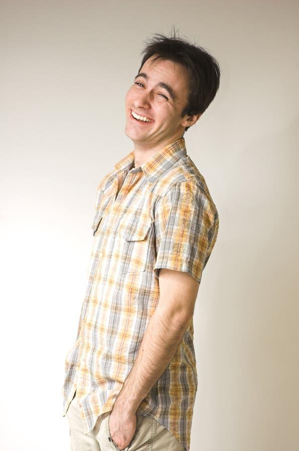 Lächelnde Männer des Portraits lizenzfreie stockfotos