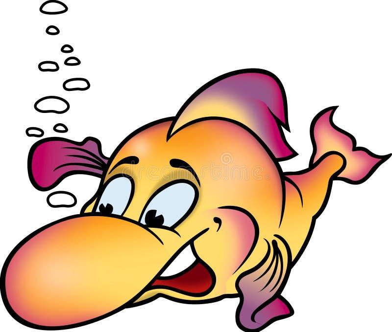 Lächelnde Minifische lizenzfreie abbildung