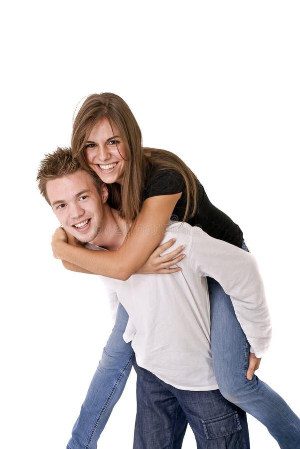 Lächelnde Paare stockfotografie