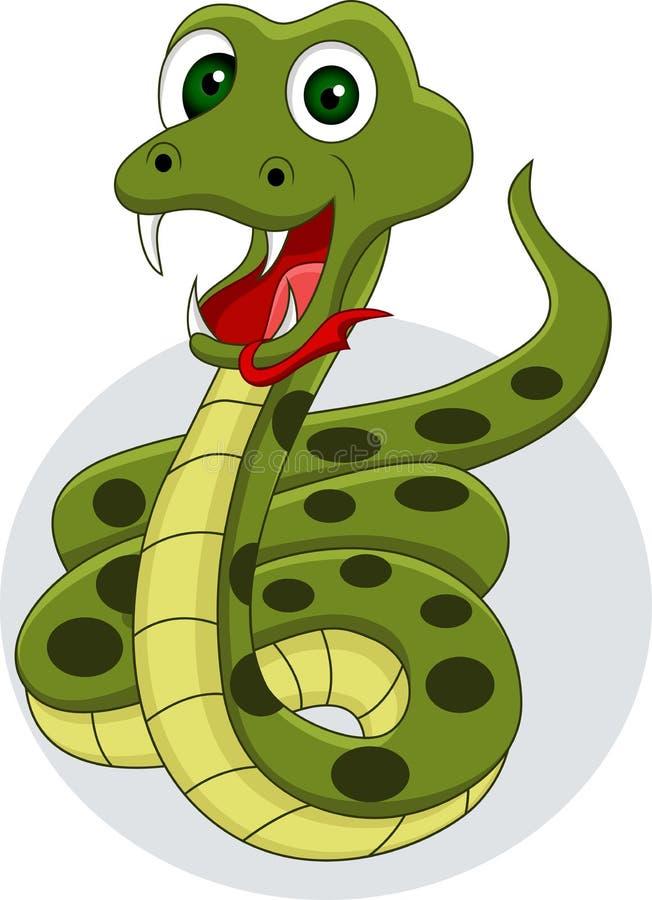 Lächelnde Schlangekarikatur stock abbildung