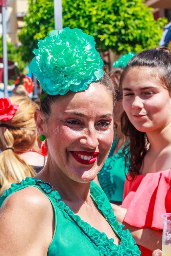 Lächelnde spanische Frau stockfotos