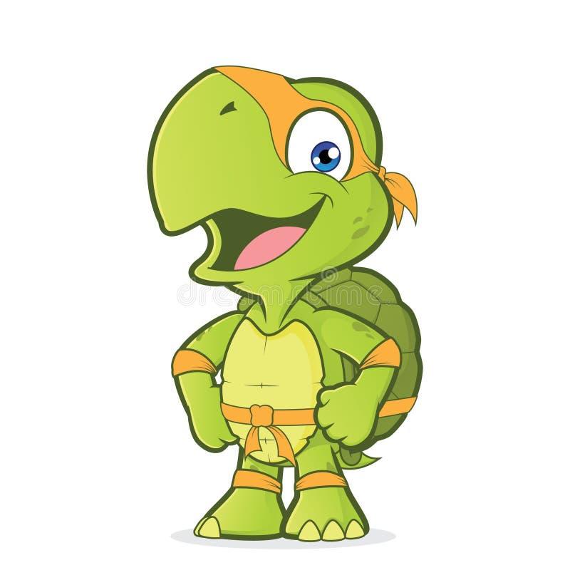 Lächelnde Superheldschildkröte lizenzfreie abbildung