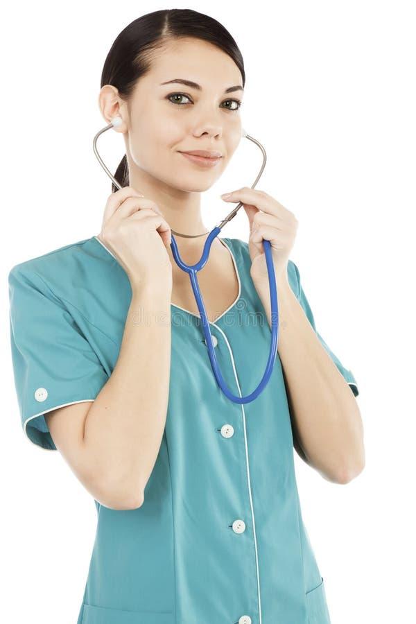 Lächelnde weibliche Krankenschwester lizenzfreie stockbilder
