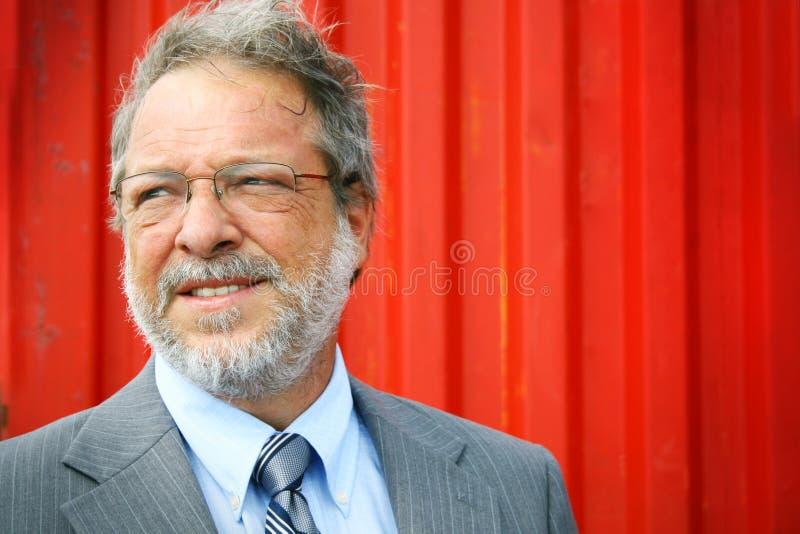 Lächelnder älterer Mann lizenzfreie stockfotografie