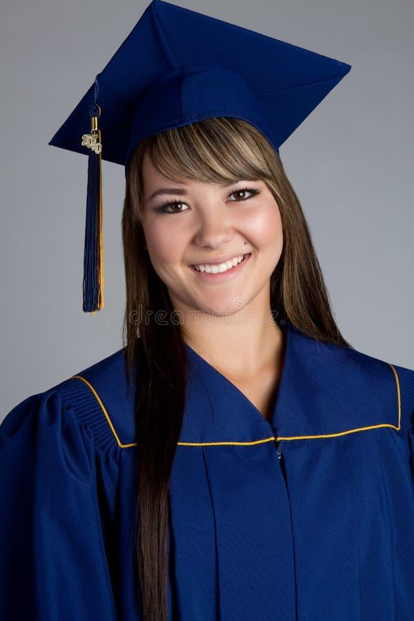Lächelnder Absolvent stockbild