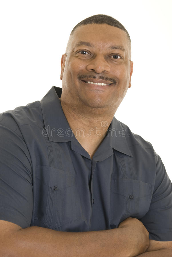 Lächelnder Afroamerikanermann stockbilder