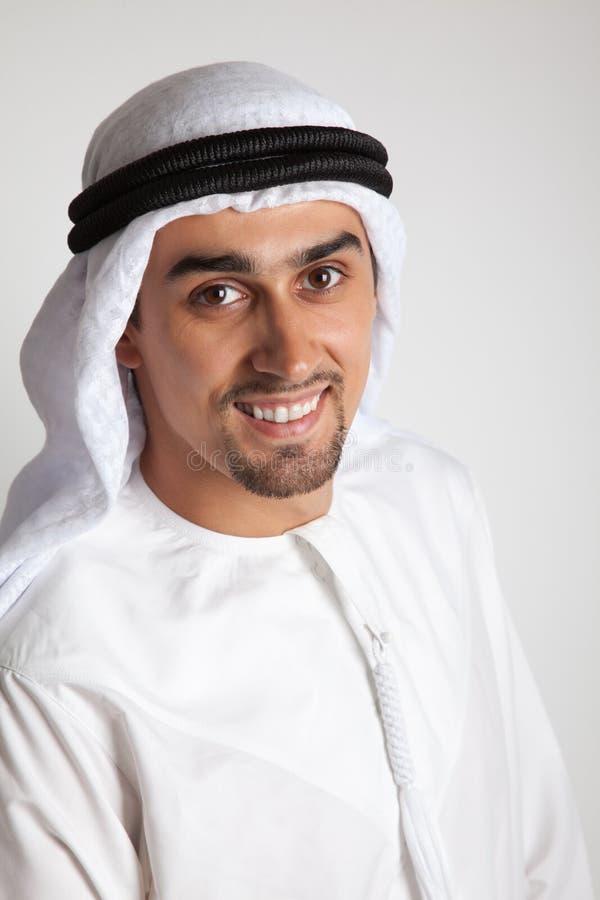 Lächelnder Araber stockbild