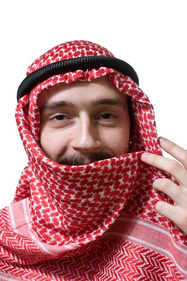 Lächelnder arabischer junger Mann lizenzfreie stockfotografie
