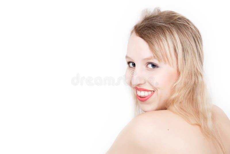Lächelnder blonder Jugendlicher lizenzfreies stockbild
