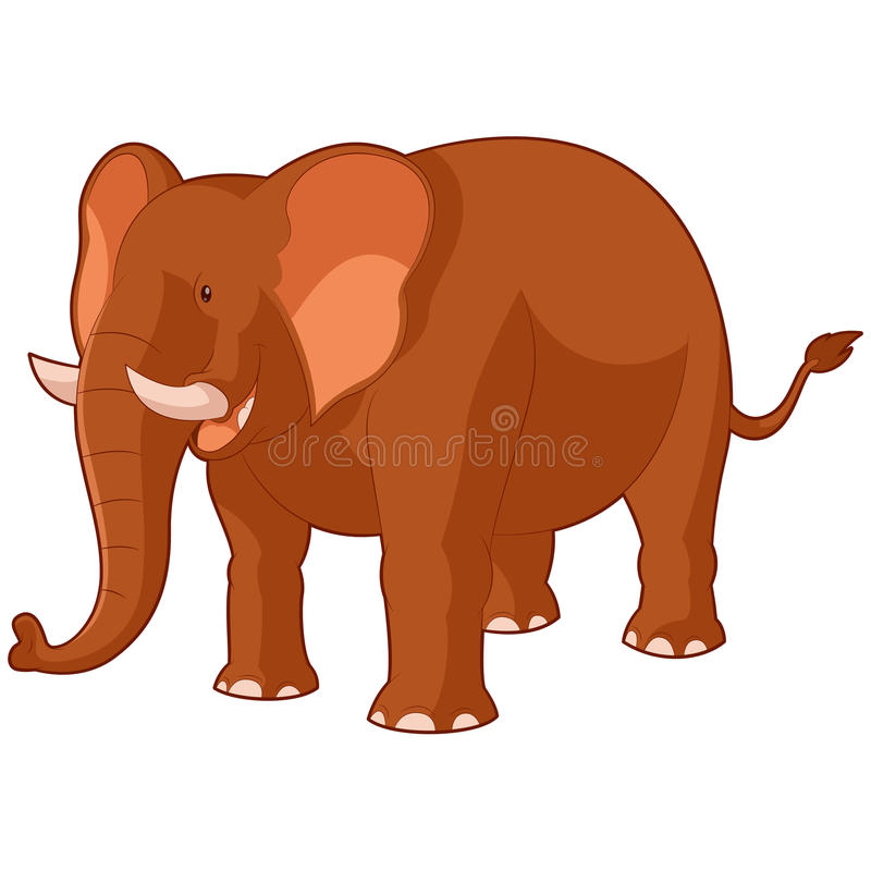 Lächelnder Elefant der Karikatur stock abbildung