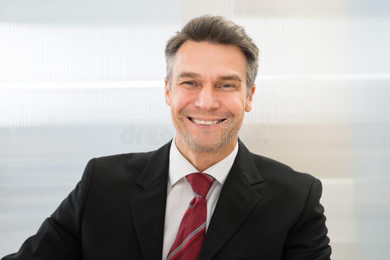 Lächelnder fälliger Geschäftsmann lizenzfreie stockfotos