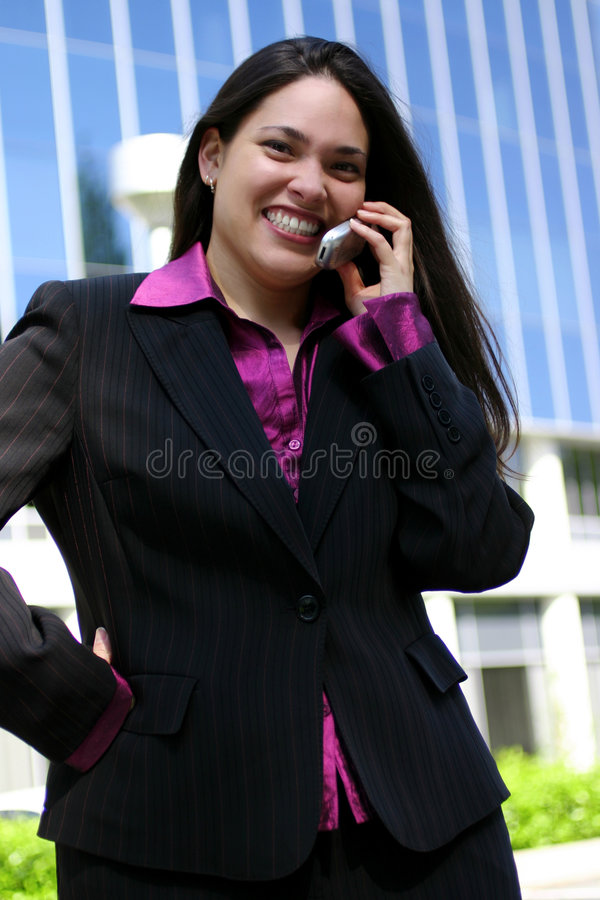 Lächelnder Fachmann stockfoto