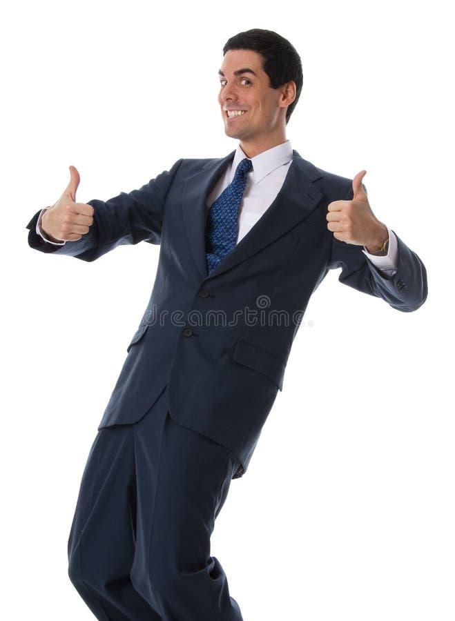 Lächelnder Geschäftsmann stockfotografie
