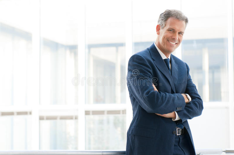 Lächelnder Geschäftsmann stockbilder