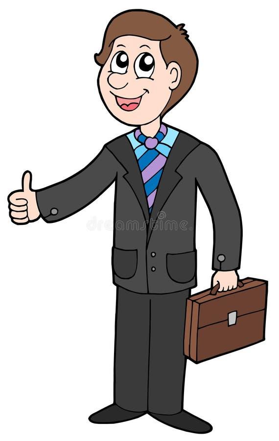 Lächelnder Geschäftsmann lizenzfreie abbildung