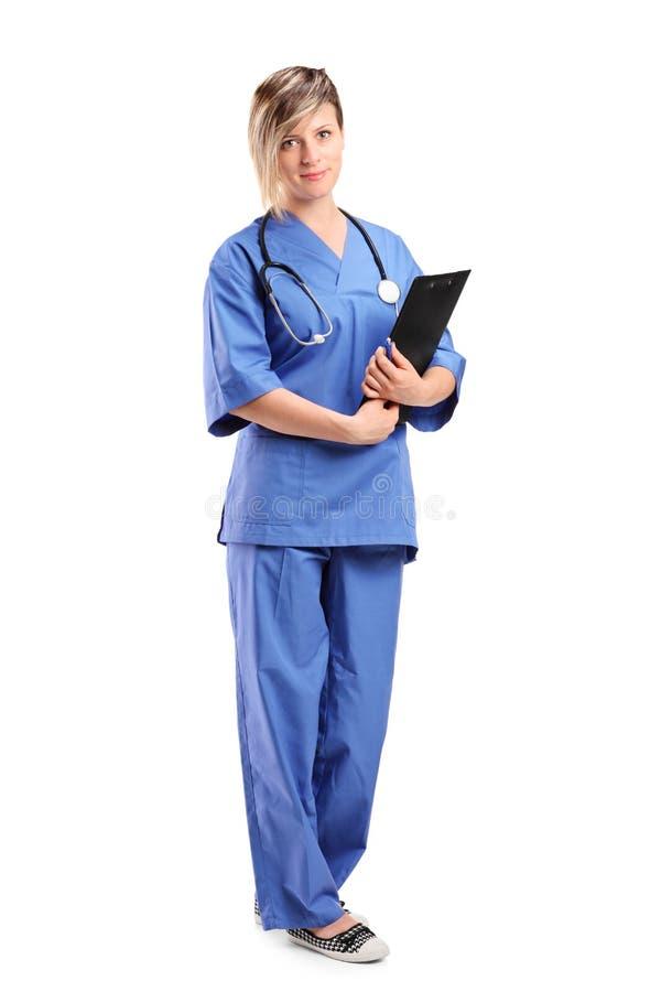 Lächelnder Gesundheitspflegefachmann stockbild