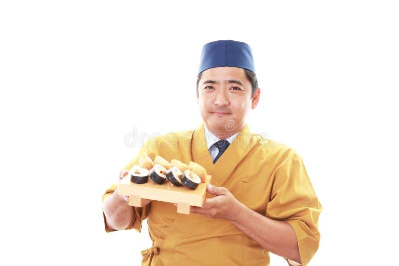 Lächelnder japanischer Chef lizenzfreies stockbild