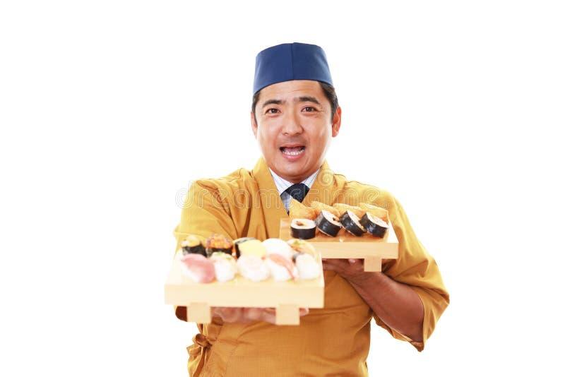 Lächelnder japanischer Chef lizenzfreies stockfoto