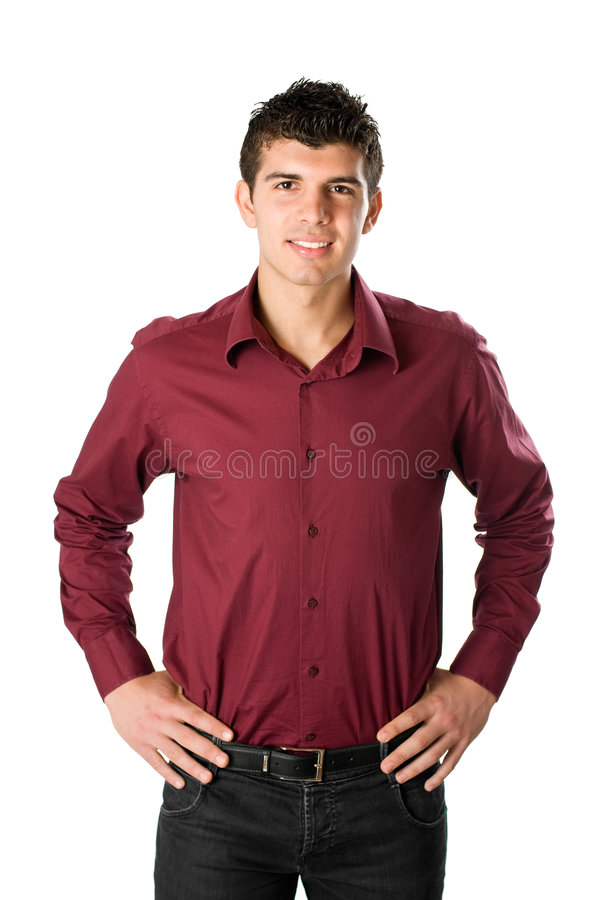 Lächelnder junger Mann stockbild