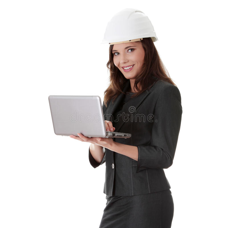 Lächelnder junger weiblicher Architekt stockbild