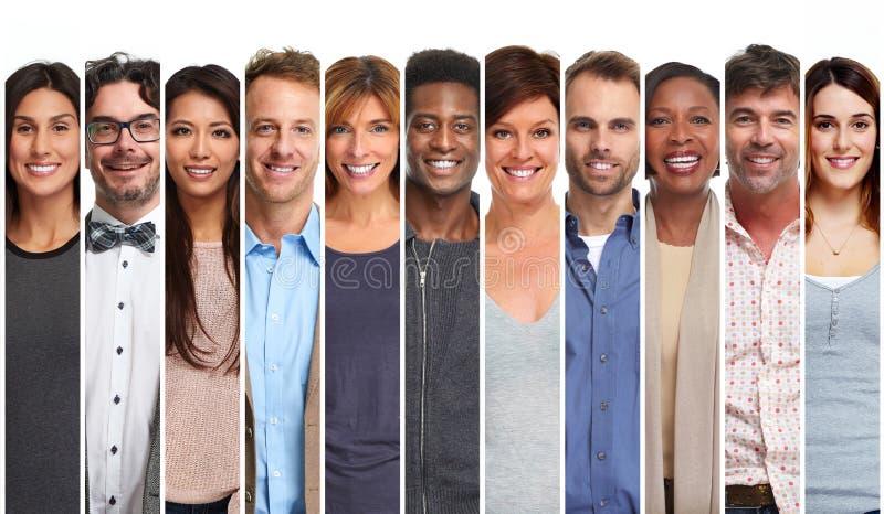 Lächelnder Leutesatz lizenzfreie stockbilder