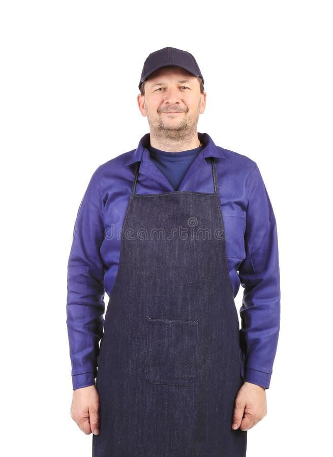 Lächelnder Mann gekleidet im Schutzblech. lizenzfreies stockfoto