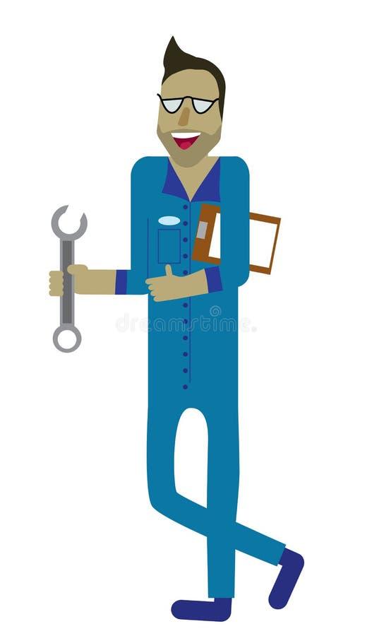 Lächelnder Mechaniker stockfoto