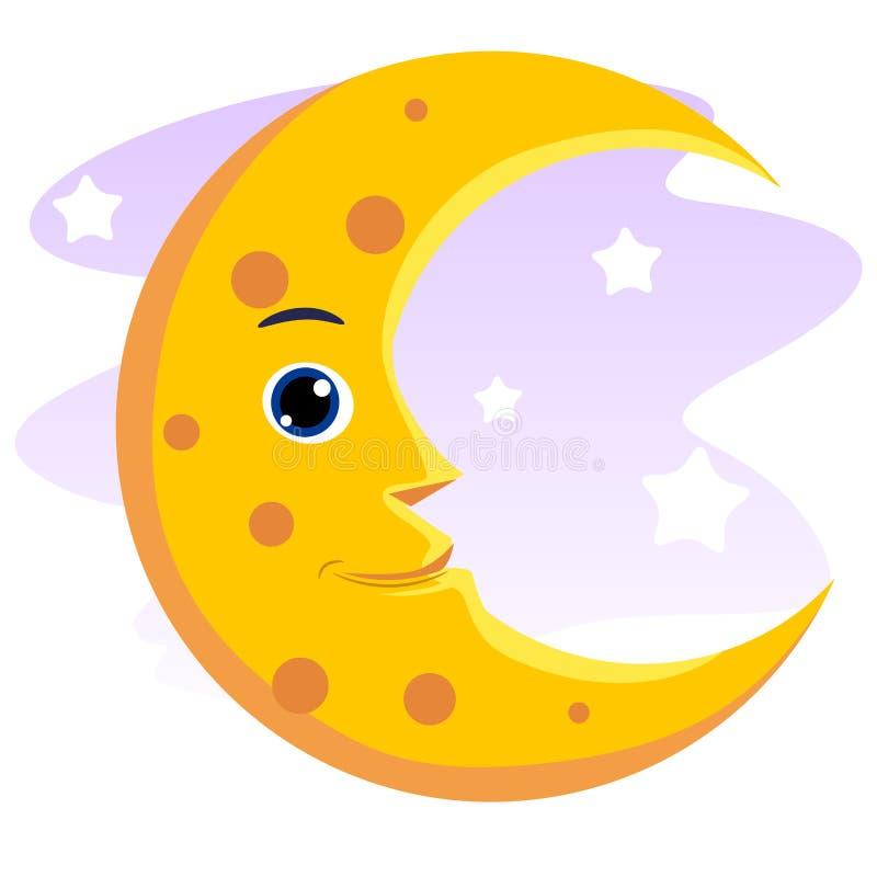 Lächelnder Mond stock abbildung