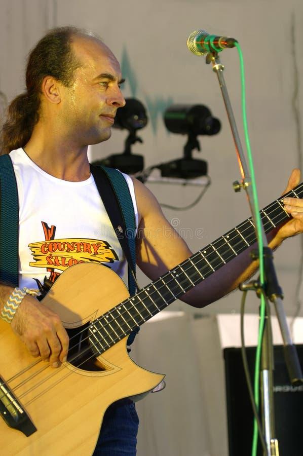 Lächelnder Musiker lizenzfreie stockfotos