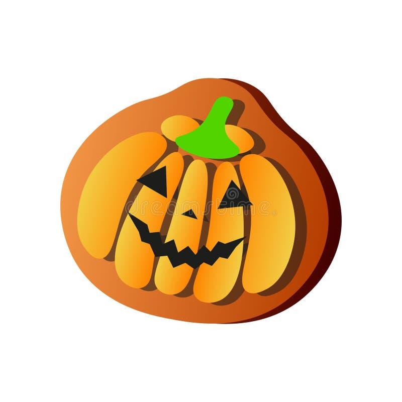 Lächelnder orange Kürbis des Lebkuchens, Halloween-Feiertagsnahrung stock abbildung