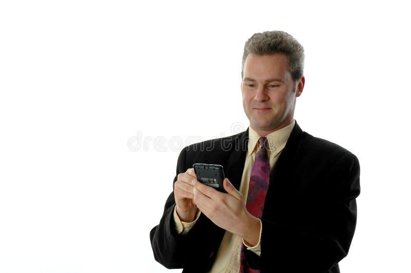 Download Lächelnder PDA Mann stockbild. Bild von palme, mann, jacke - 36251