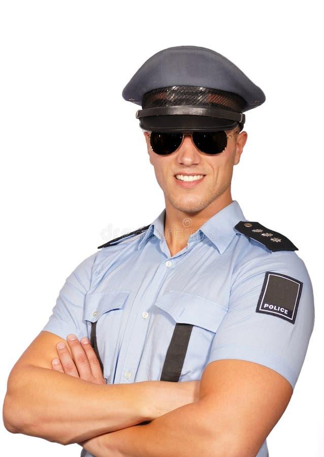 Lächelnder Polizist lizenzfreies stockbild