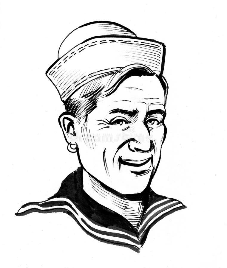 Lächelnder Seemann stock abbildung