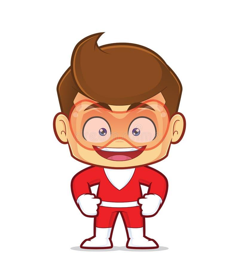 Lächelnder Superheld stock abbildung